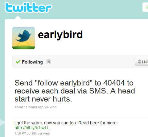 Twitter Now Into Flash Sales with @EarlyBird Fashion in ...