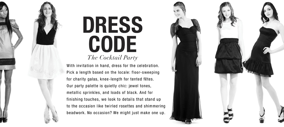 Dress code cocktail style