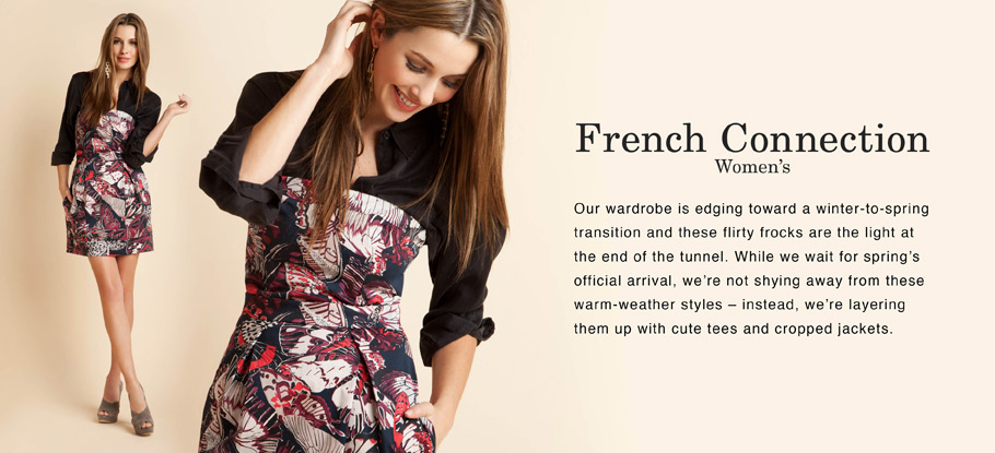 French Connection Apparel for Men and Women today on Ruelala