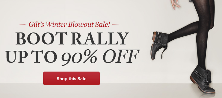 Gilt's Winter Blowout Sale