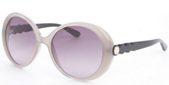 shadow and black acrylic rounded sunglasses