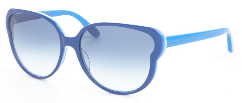 electric blue acrylic oversized round sunglasses