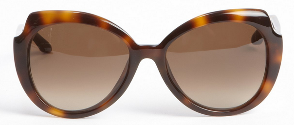 Marc by Marc Jacobs Rounded Cut Out Sunglasses